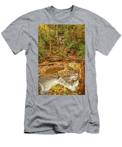 Men's T-Shirt (Athletic Fit) featuring the photograph Stream Waterfalls by Meta Gatschenberger