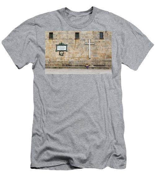 Men's T-Shirt (Athletic Fit) featuring the photograph Street Color by Alex Lapidus
