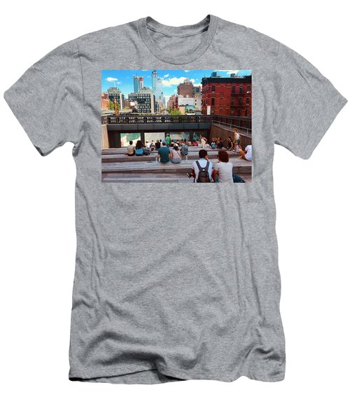 Street Theater At The Highline In New York Men's T-Shirt (Athletic Fit)
