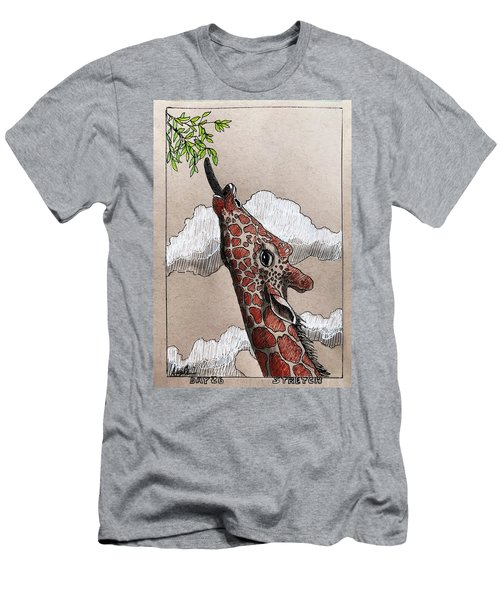 Stretch - Giraffe Men's T-Shirt (Athletic Fit)