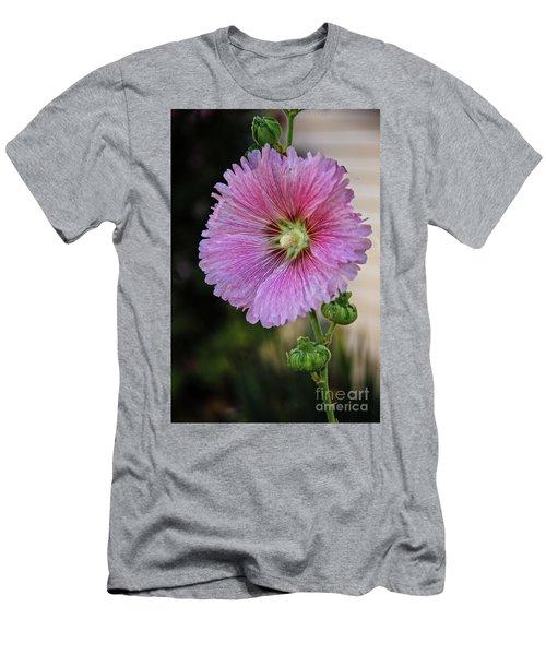 Stunning Pink Hollyhock Men's T-Shirt (Athletic Fit)
