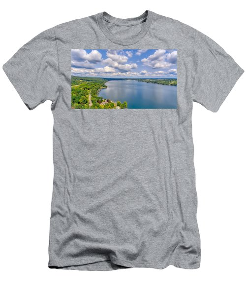 Summer Clouds On Keuka Lake Men's T-Shirt (Athletic Fit)