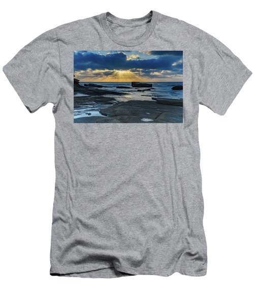 Sun Rays Burst Through The Clouds - Seascape Men's T-Shirt (Athletic Fit)