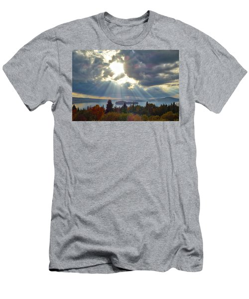 Sun Rays Over Rangeley Lake Men's T-Shirt (Athletic Fit)