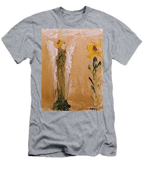 Sunflower Angel Men's T-Shirt (Athletic Fit)
