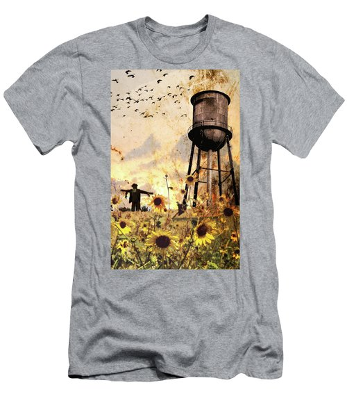 Sunflowers At Dusk Men's T-Shirt (Athletic Fit)