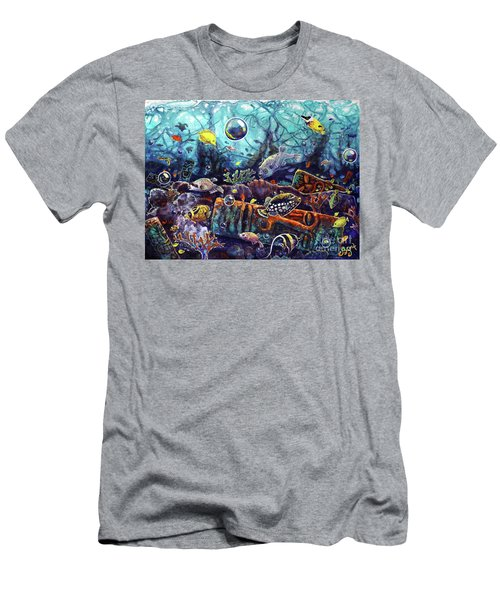 Sunken Tiki Reef Men's T-Shirt (Athletic Fit)