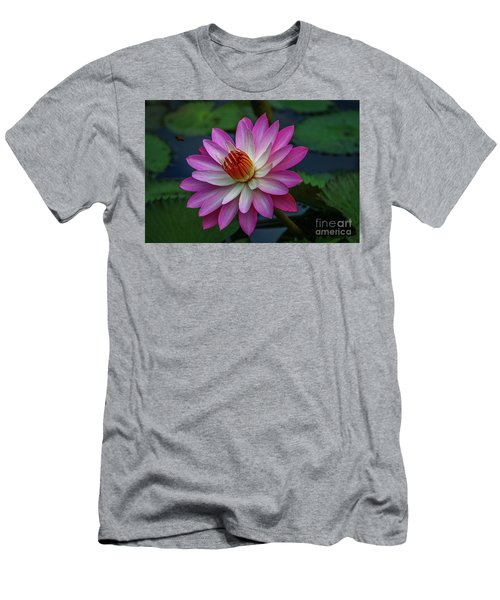 Men's T-Shirt (Athletic Fit) featuring the photograph Sunlit Lily by Tom Claud