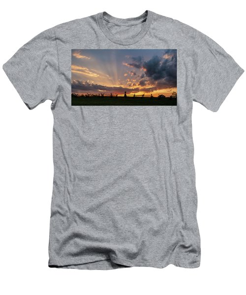 Sunrays At Sunset Men's T-Shirt (Athletic Fit)