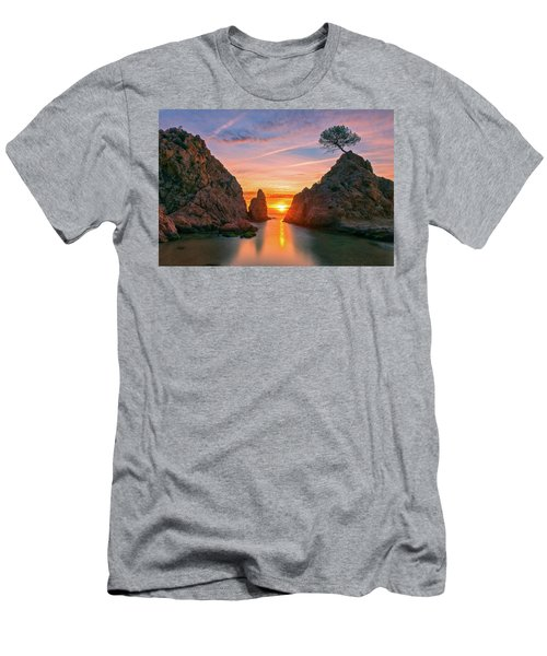 Sunrise In The Village Of Tossa De Mar, Costa Brava Men's T-Shirt (Athletic Fit)