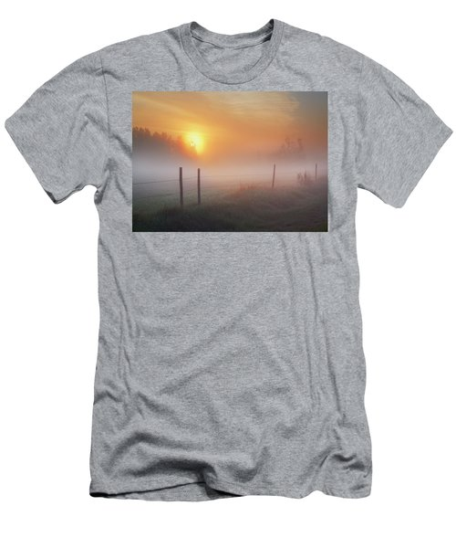 Sunrise Over Morning Pasture Men's T-Shirt (Athletic Fit)