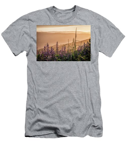 Sunset Among The Lupine Men's T-Shirt (Athletic Fit)