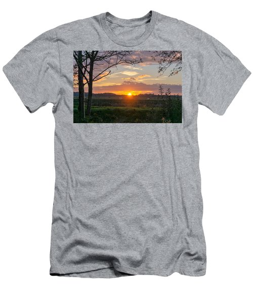 Men's T-Shirt (Athletic Fit) featuring the photograph Sunset by Anjo Ten Kate