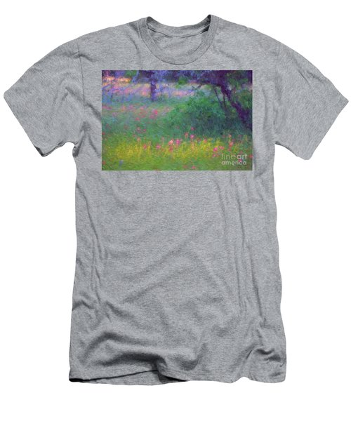 Sunset In Flower Meadow Men's T-Shirt (Athletic Fit)