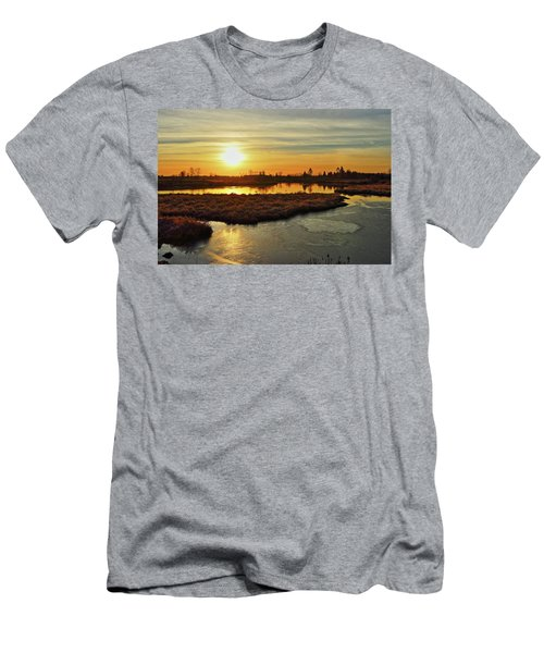 Sunset In Pitt Meadows Men's T-Shirt (Athletic Fit)