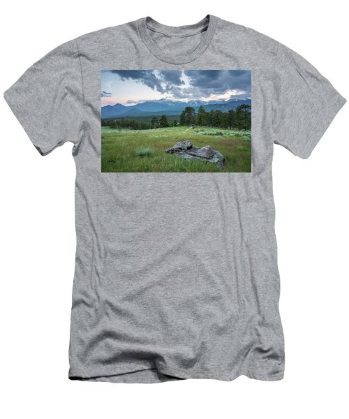 Sunset In Rocky Mountain National Park  Men's T-Shirt (Athletic Fit)