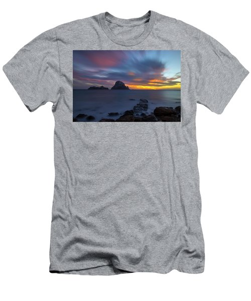 Sunset In The Mediterranean Sea With The Island Of Es Vedra Men's T-Shirt (Athletic Fit)