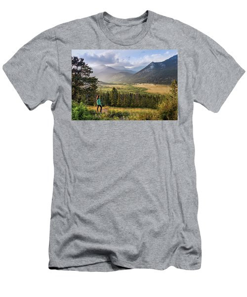 Sunset In The Rockies Men's T-Shirt (Athletic Fit)