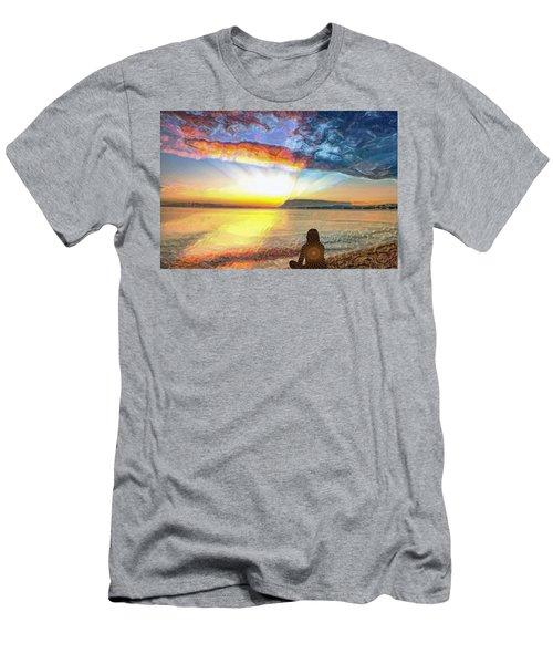 Sunset Meditation Men's T-Shirt (Athletic Fit)