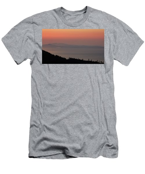 Sunset Of The Olympic Mountains Men's T-Shirt (Athletic Fit)
