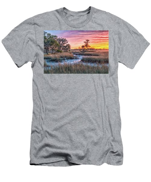 Sunset Over Chisolm Island Men's T-Shirt (Athletic Fit)
