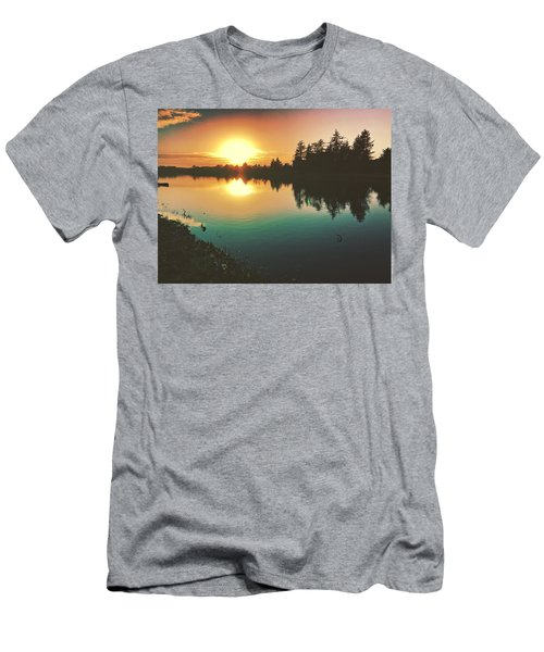 Sunset River Reflections  Men's T-Shirt (Athletic Fit)
