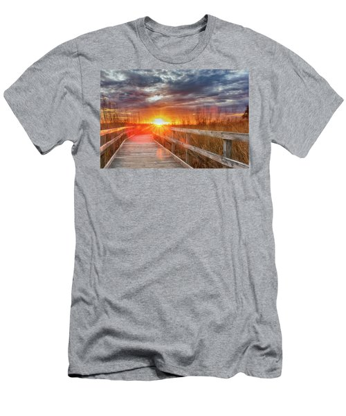 Men's T-Shirt (Athletic Fit) featuring the photograph Sunset Walk by Russell Pugh