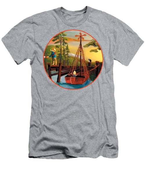 Super Boat Overlay Men's T-Shirt (Athletic Fit)