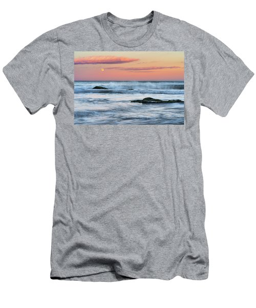 Super Moon And Sunset At Sozopol Town Beach Men's T-Shirt (Athletic Fit)