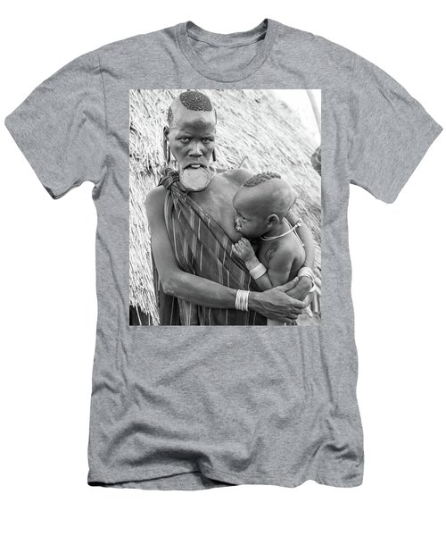 Mursi Mother And Child Men's T-Shirt (Athletic Fit)