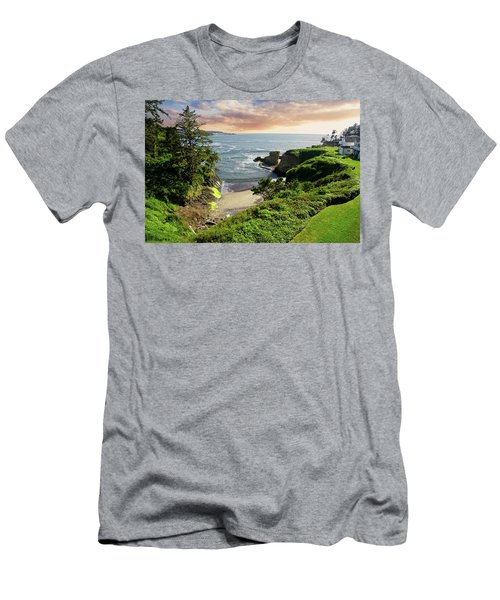 Tall Conifer Above Protected Small Cov Men's T-Shirt (Athletic Fit)
