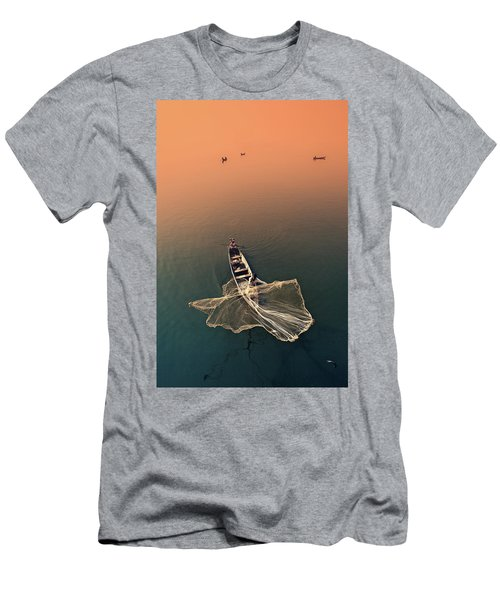 Taungthaman Lake Men's T-Shirt (Athletic Fit)