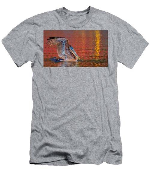 Tchefuncte Pelican Men's T-Shirt (Athletic Fit)