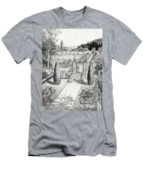 Terrace Walk And Herb Garden Men's T-Shirt (Athletic Fit)