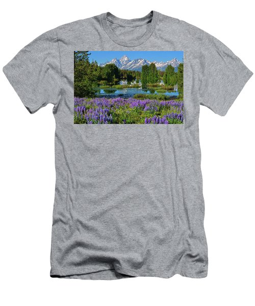 Tetons And Lupines Men's T-Shirt (Athletic Fit)