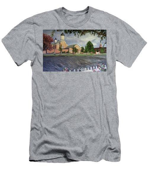Thank Thee For The Church And The Temple  Vernal Utah Temple Men's T-Shirt (Athletic Fit)