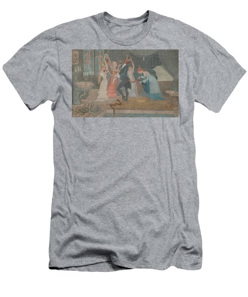 Men's T-Shirt (Athletic Fit) featuring the drawing The Bridegroom Dressed by Ivar Arosenius