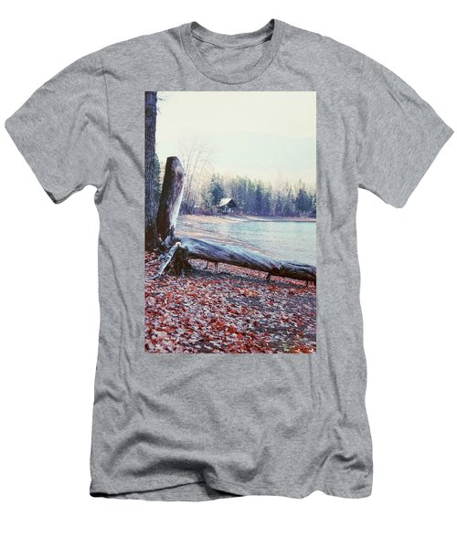 Men's T-Shirt (Athletic Fit) featuring the photograph The Cabin by Deahn      Benware