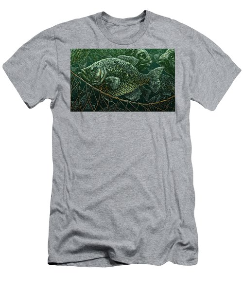 Men's T-Shirt (Athletic Fit) featuring the drawing The Catch by Clint Hansen