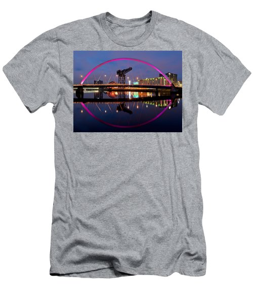 Men's T-Shirt (Athletic Fit) featuring the photograph The Clyde Arc Reflected by Stephen Taylor