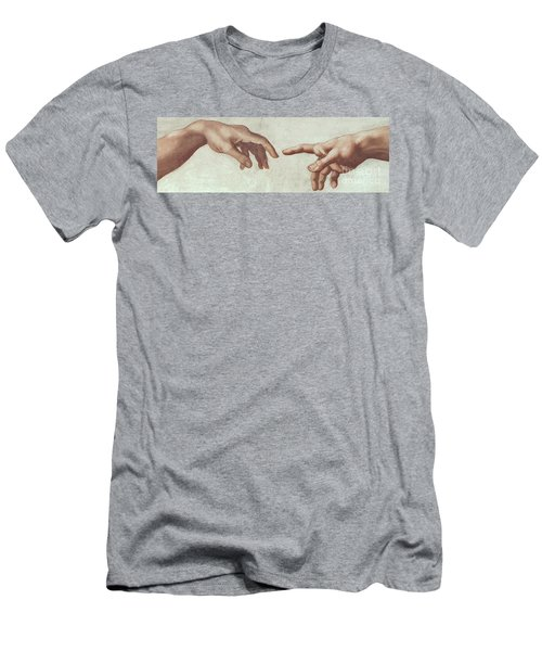 The Creation Of Adam Detail Of The Hands Of God And Adam Men's T-Shirt (Athletic Fit)
