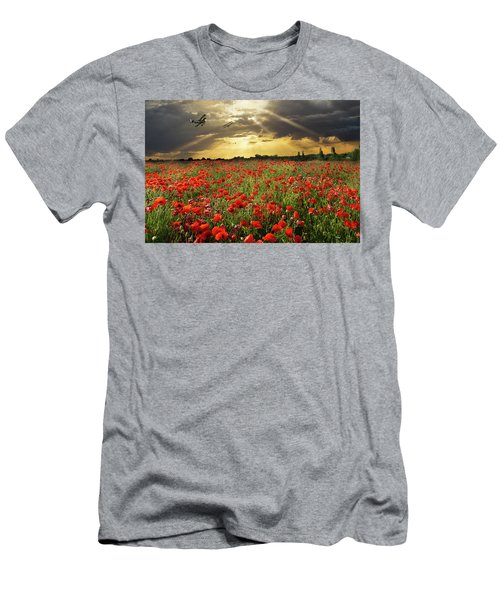 Men's T-Shirt (Athletic Fit) featuring the photograph The Final Sortie Wwi Version by Gary Eason