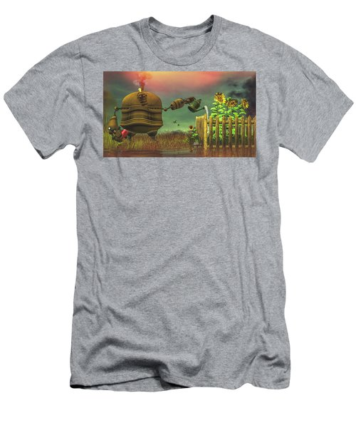 Men's T-Shirt (Athletic Fit) featuring the digital art The Gardener by Bob Orsillo