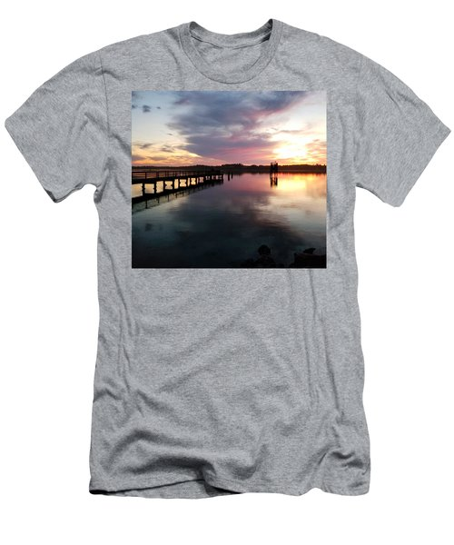 The Hollering Place Pier At Sunset Men's T-Shirt (Athletic Fit)