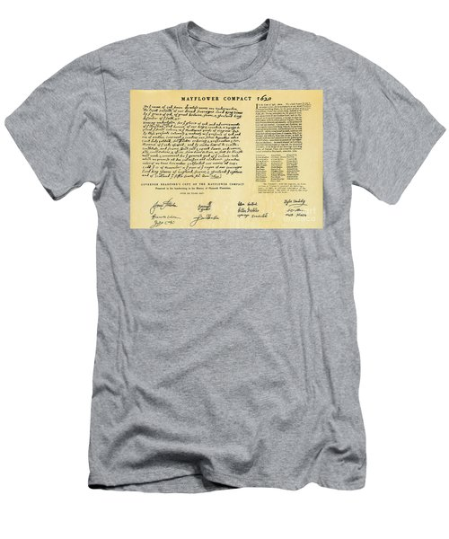 The Mayflower Compact  Men's T-Shirt (Athletic Fit)