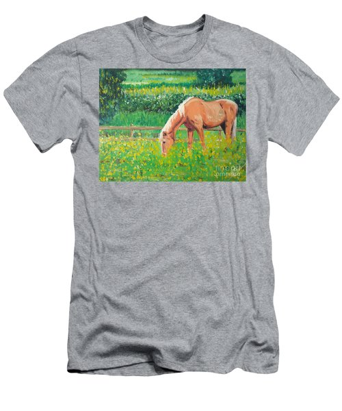 The Palomino And Buttercup Meadow Men's T-Shirt (Athletic Fit)
