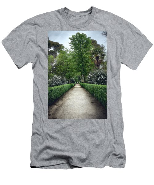 Men's T-Shirt (Athletic Fit) featuring the photograph The Paths Of The Retiro Park by Eduardo Jose Accorinti