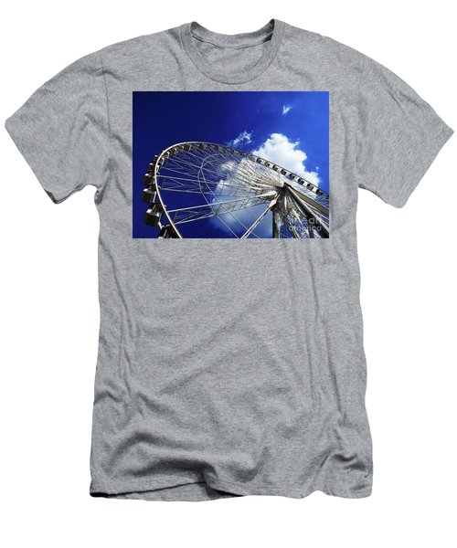 Men's T-Shirt (Athletic Fit) featuring the photograph The Ride To Acrophobia by Rick Locke