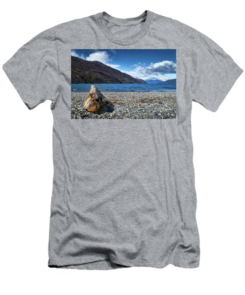 The Trunk, The Lake And The Mountainous Landscape Men's T-Shirt (Athletic Fit)