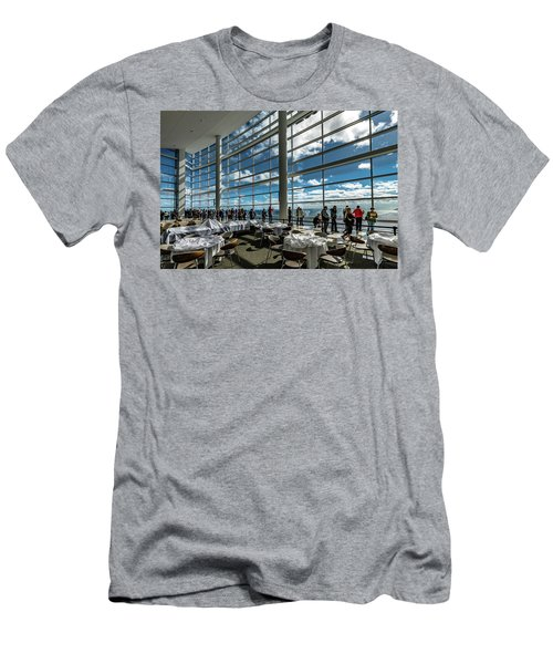 Men's T-Shirt (Athletic Fit) featuring the photograph The View From 32 by Randy Scherkenbach